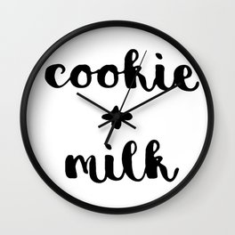 cookie+milk Wall Clock