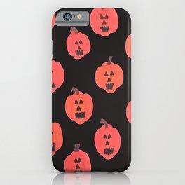 Halloween Jack-o-Lanterns on Black iPhone Case