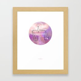 Libra horoscope symbol astrology Framed Art Print