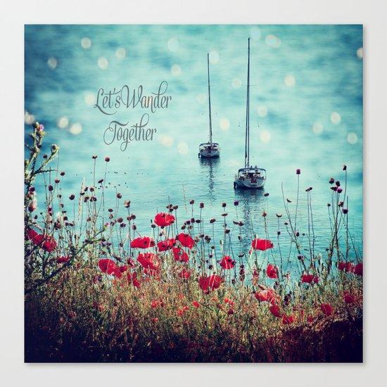 Let's Wander Together Canvas Print