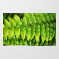 lime green Area & Throw Rugs featuring Lime Green Leaves II by Amelia Kay Photography