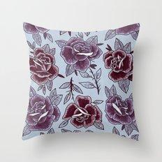 Dozen Roses - Purple Throw Pillow