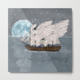 the wing ship Metal Print