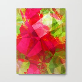 Crape Myrtle Abstract Polygons 1 Metal Print