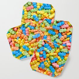 Mini Baby Pacifier Pastel Candy Pattern Coaster