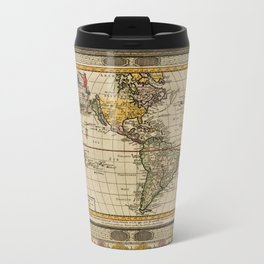 Map Of America 1707 Travel Mug