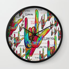 Love in Any Language Wall Clock