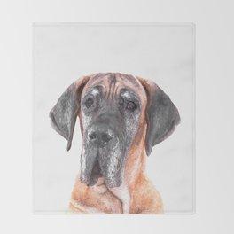 Great Dane Portrait Throw Blanket