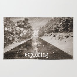 """""""Never stop exploring ... forests"""" Rug"""