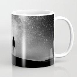 Finland and Galaxy (Black and White) Coffee Mug