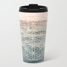 Mandala Flower of Life Sea Metal Travel Mug