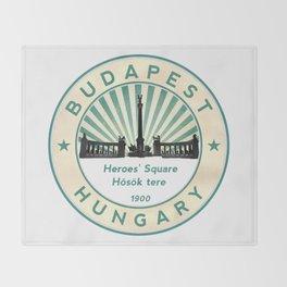 Budapest, Heroes' Square, Hosök tere, Hungary, circle Throw Blanket
