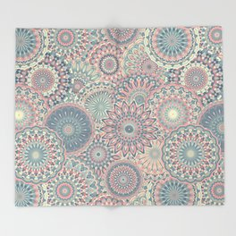 Mandala (Floral 002) Throw Blanket