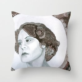 Haloed Lady For Sale!!! Throw Pillow