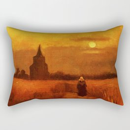 Vincent Van Gogh The Old Tower In The Fields Rectangular Pillow