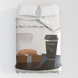 Bigly Don's Covfefe and Hamberders (no background) Comforters