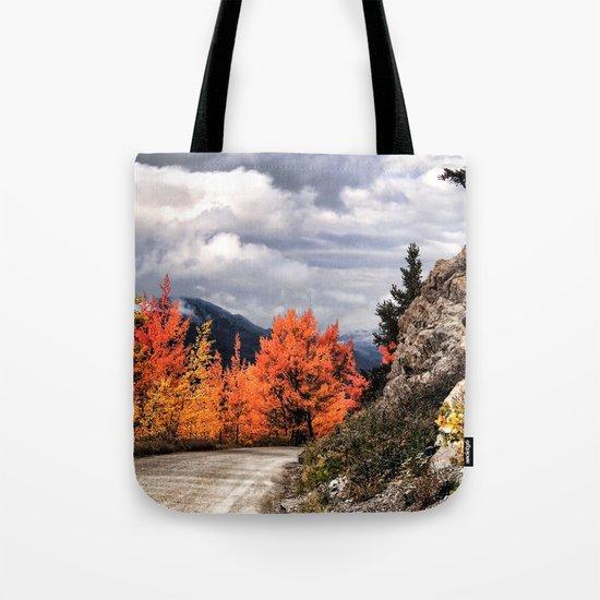 Autumn Mountain Road Tote Bag