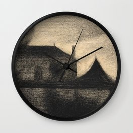Georges Seurat - Houses at Dusk - Rare Retro Vintage Drawing Wall Clock