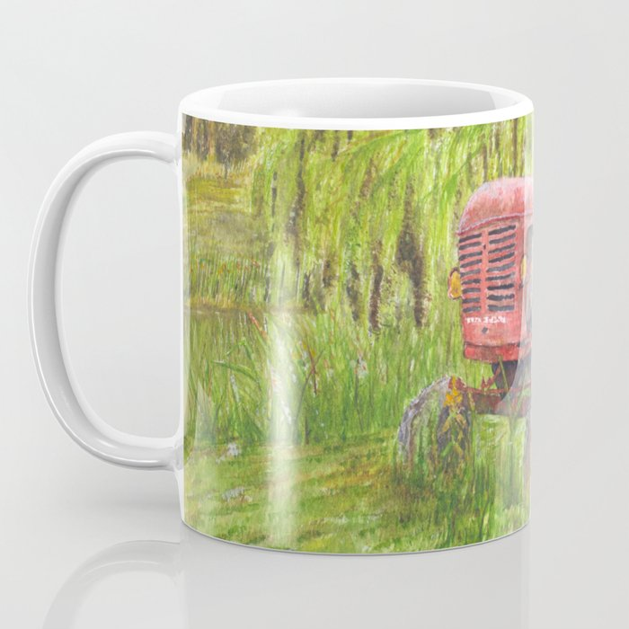 Old Massey Harris 55 tractor in rural France Coffee Mug