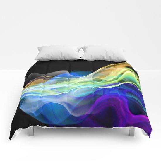 Color smoke. Comforters