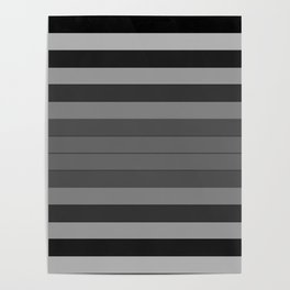 Black and Gray Stripes Poster