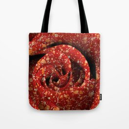 Vintage Lava Rose Tote Bag