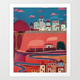 warm village Art Print