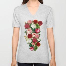 Vintage Flowers Unisex V-Neck