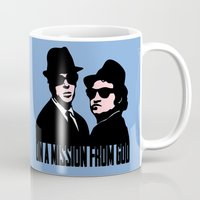 blues brothers Mugs featuring Blues Brothers by John Medbury (LAZY J Studios)