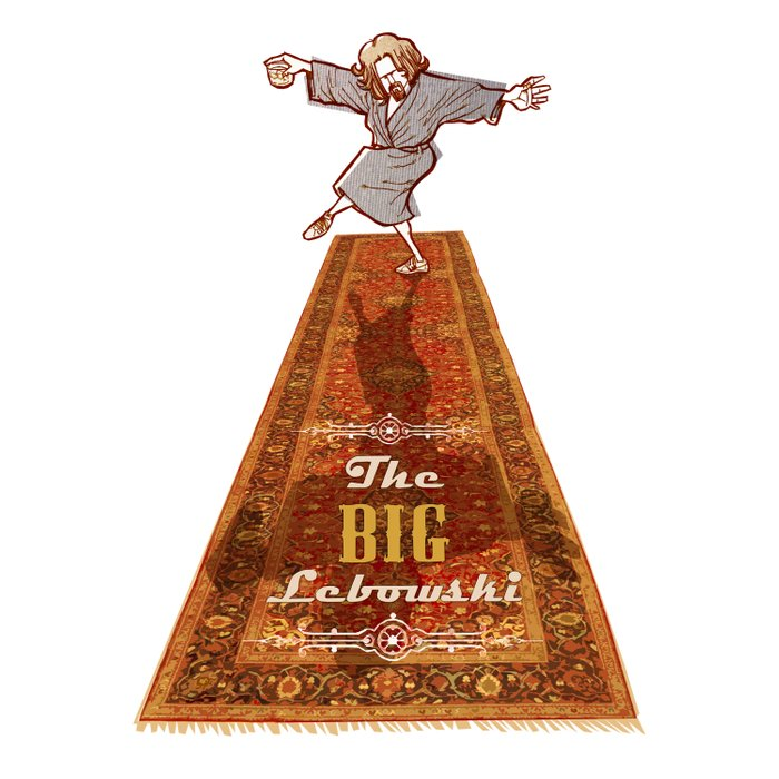 This rug ties the room together… The dude The big Lebowski  Comforters