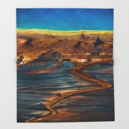 Earth in Full Color Throw Blanket
