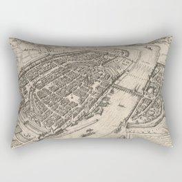 Vintage Pictorial Map of Frankfurt Germany (1575) Rectangular Pillow