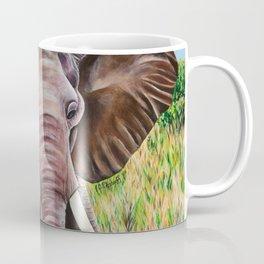 Elephant in the Grass Coffee Mug