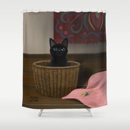 In the basket Shower Curtain