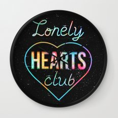 Lonely hearts club Wall Clock