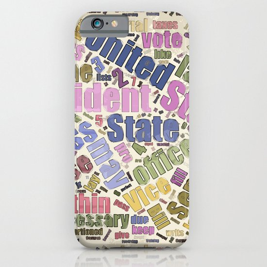 Colorful Constitution Text Graphic iPhone & iPod Case