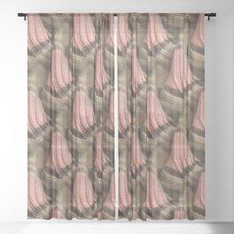 Knit pattern of sock heels Sheer Curtain