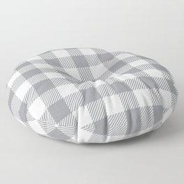 Buffalo Plaid - Grey & White Floor Pillow