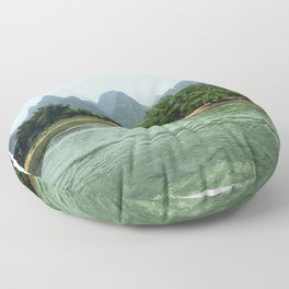 The Sheep & The Mountains Floor Pillow