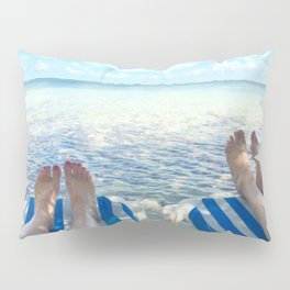 Lovers Toes over Key Largo Pillow Sham
