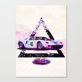 Ford Gt40// Le Mans Race Cars Canvas Print