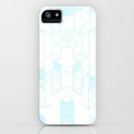Geo-Hint of Blue iPhone Case