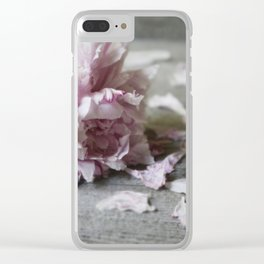 Peony Falling Clear iPhone Case