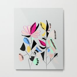 Modern floral forms 01 Metal Print