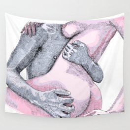 Rough Lover Wall Tapestry