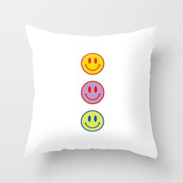 Smileys Obsessed #3 Throw Pillow