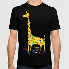 Paint by number giraffe LARGE Black Mens Fitted Tee