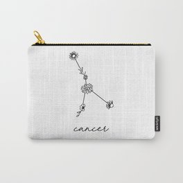 Cancer Floral Zodiac Constellation Carry-All Pouch