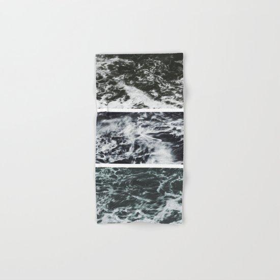 Saltwater Trytych Var II - blacks Hand & Bath Towel