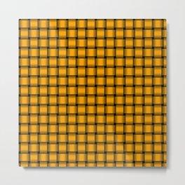 Small Orange Weave Metal Print